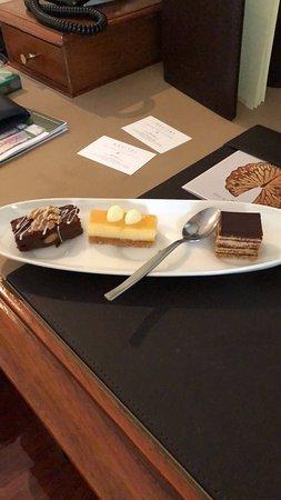 Sofitel Angkor Phokeethra Golf and Spa Resort: Complimentary pastries sent to room