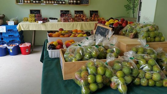 Coal Creek Gardens: A range of produce available on our fruit stall