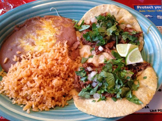 Mexico Cafe: Taco lunch special with rice and beans