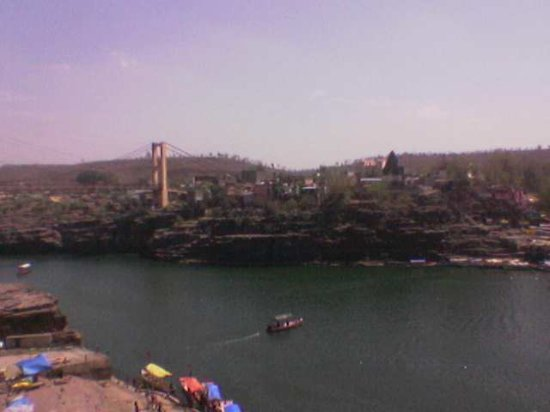 Shri Omkareshwar Jyotirlinga: The view of Narmada river from the temple
