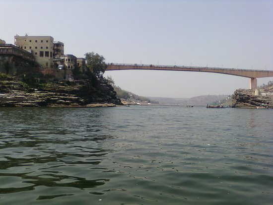 Shri Omkareshwar Jyotirlinga: View of the other side of River Narmada