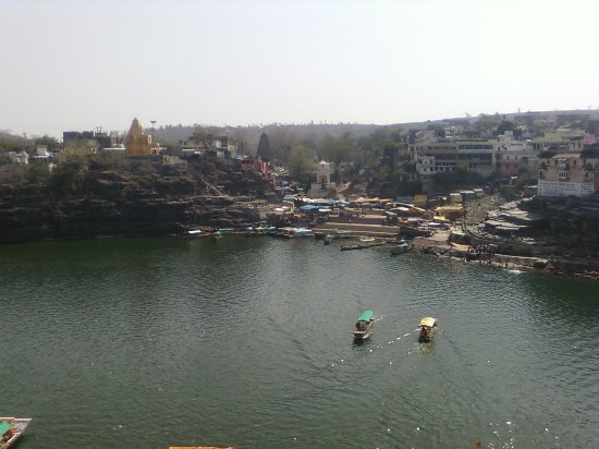 Shri Omkareshwar Jyotirlinga: View from the temple campus