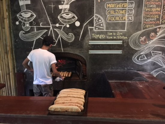 Kermit Siargao: The pizza oven