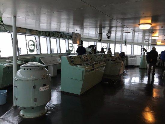 Seikan Ferry Memorial Ship Hakkodamaru: 操舵室