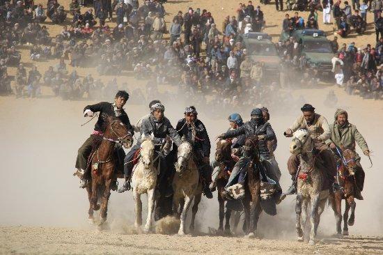 Mazar-i-Sharif, Afghanistan: Buzkashi in Afghanistan : national sport !