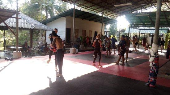 Charn Chai Muay Thai Gym: More pads equals more fun
