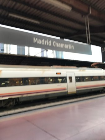 Renfe: on the platform of Chamartin station