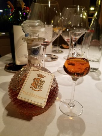 Angelini: grappa, great way to finish a meal