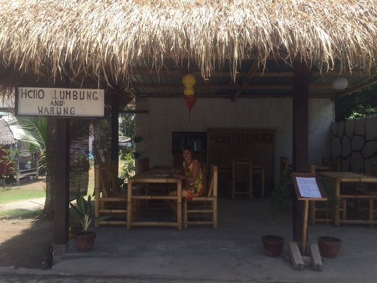 Hello Lumbung Warung: Our location in front of the main road