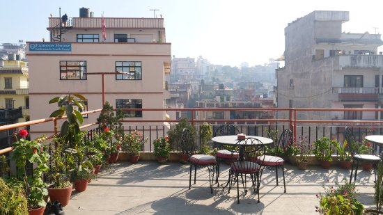 Thamel Backpackers Home: Good terrace!!