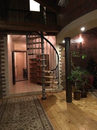 Hotel Maroseyka 2/15: I think spiral staircase leads to a secret room lol