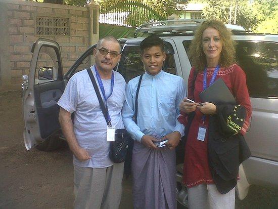 Bagan Sun Travel: My colleague, Thu Rain and me