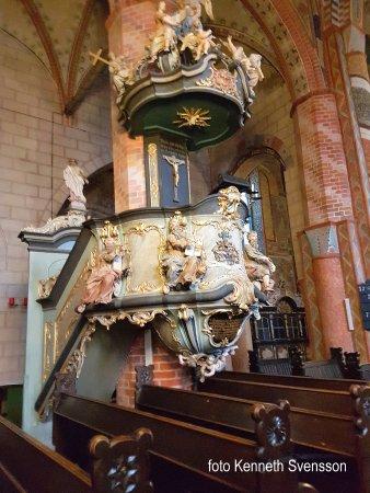 St.-Marien-Kirche: Hela kyrkans interiör var mycket sevärd
