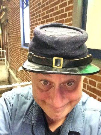 Blue & Gray Bar & Grill: My goofy selfie outside the restaurant.....