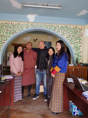 Bhutan Travel Club: BTC team with the MD Sherab on my left and Rigzin on my right - great team!
