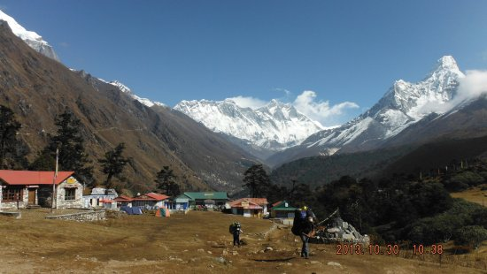 Mountain Experience: Tengboche 3860m. we see nice vew from here.