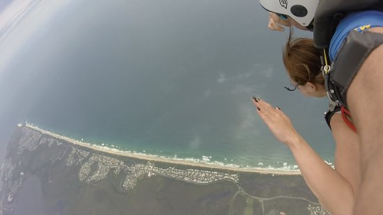 Skydive Noosa: the view