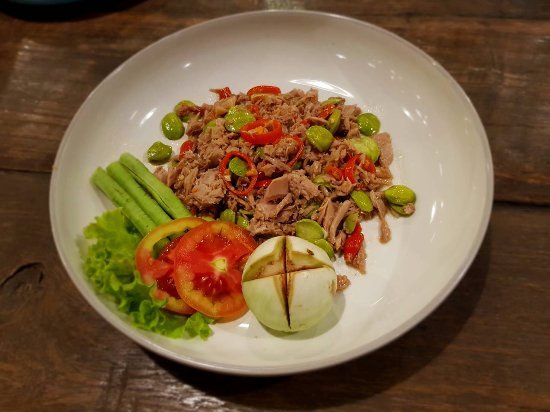 Thai Spice Cuisine: STIR FRIED Bitter bean WITH TUNA and shrimp paste