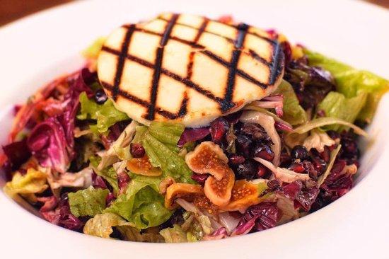 Alati Seafood & More: ΣΑΛΑΤΑ ΜΕ ΡΟΔΙ ΑΠΟΞΗΡΑΜΕΝΑ ΣΥΚΑ ΚΑΙ ΤΑΛΑΓΑΝΙ ΑΠΟΣΤΟΛΟΥ....