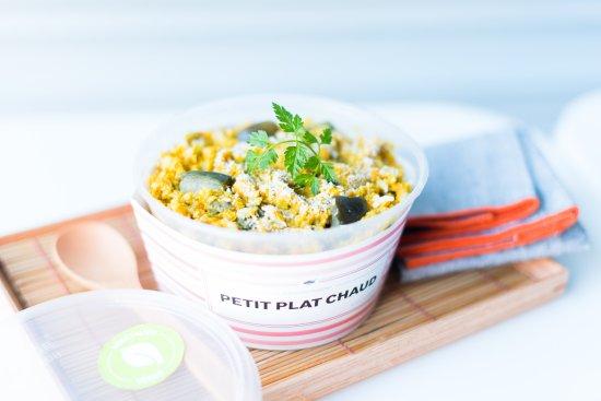 cojean Laffitte: chaque semaine, retrouvez un petit plat chaud complet et équilibré avec un option végétalienne.