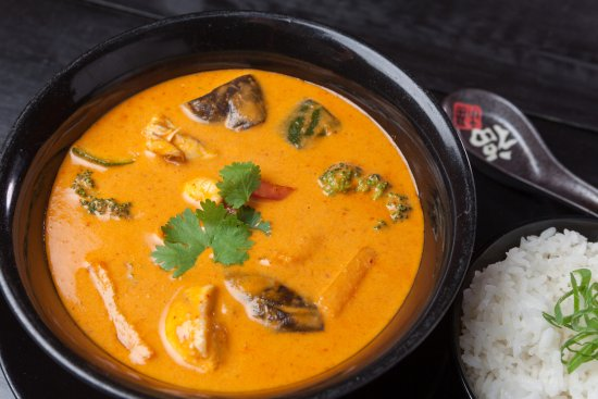 Sushi Palace Gent: Our favorite spicy curry with chicken !!