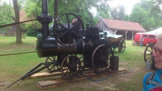 Suderburg, Germany: Dampfmaschine zum Betrieb eines Sägegatters