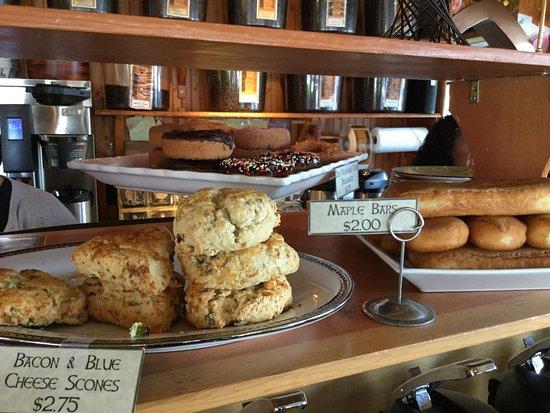 Sleepy Monk Coffee Roasters: Snack options.