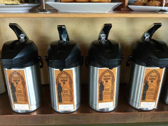 Sleepy Monk Coffee Roasters: Inside the Sleepy Monk.