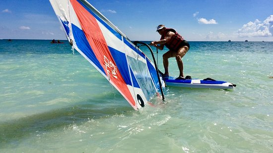 Secrets Cap Cana Resort & Spa: After my lesson - windsurfing!