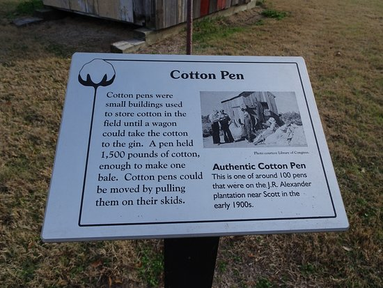 Plantation Agriculture Museum: cotton pen sign