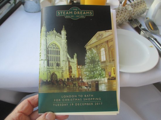 The Steam Dreams Rail Co.: The very informative brochure......giving you all the info you needed for the journey