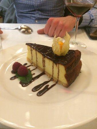 Miod Malina: cheescake al cioccolato