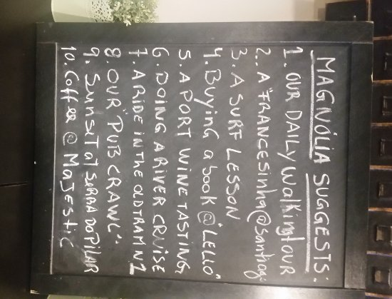 Magnolia Porto Hostel: Consigli dal Magnolia