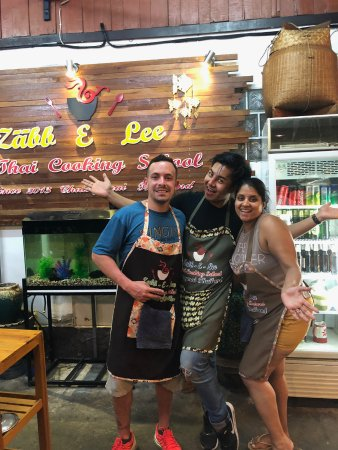 Zabb E Lee Thai cooking school: Art, the cooking instructor