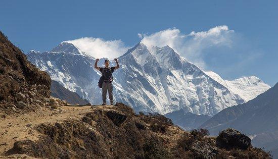 Nepal: Mount Everest on the background.