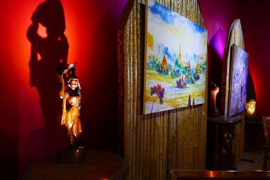 La Terrazza restaurant is also an Art Gallery...