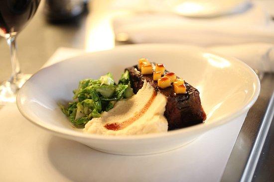 Restaurant Lemeac: Boudin maison et sauce au cidre, purée de céleri-rave