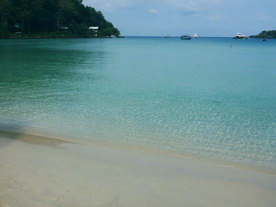 Siam Hut Koh Kood Resort: Вид из бунгало на прозрачнейшую гладь моря.