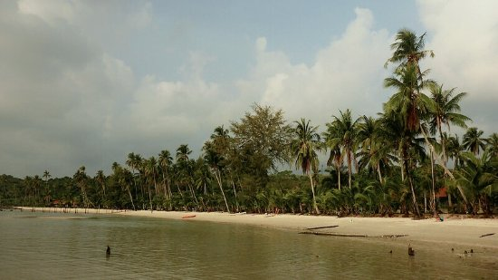 Siam Hut Koh Kood Resort: Вид на пляж с деревянного причала.