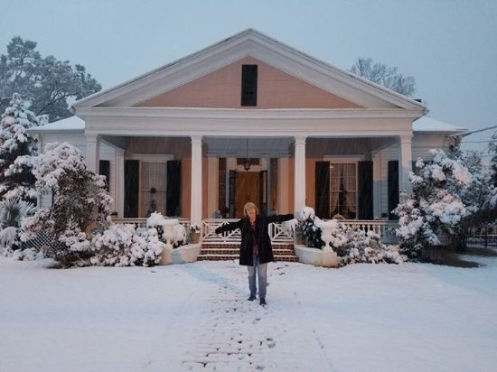 Stone House Musical B&B: Snow in Natchez! And on our anniversary too!