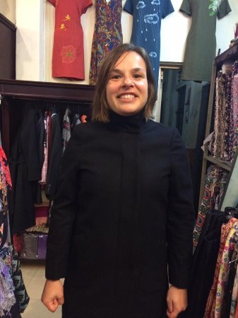Gia Huy Silk Tailor Shop: Black coat.