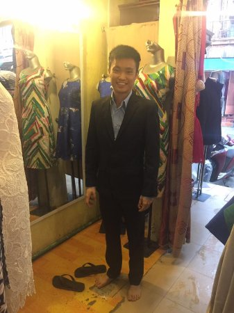 Gia Huy Silk Tailor Shop: He comes from Singapore.He and his friends ordered a lots of suit last year and this year.