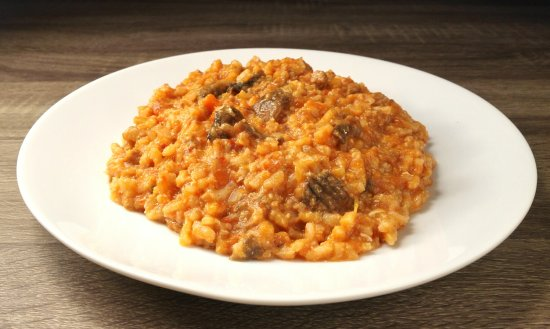 DD Fusion Food & Homestay: (italian food 12) - Risotto (italian rice) with mushrooms and beef