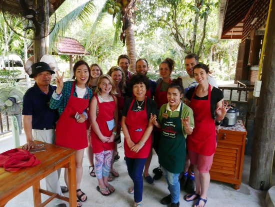 Thai Farm Cooking School: all happy people with wonderful Fah