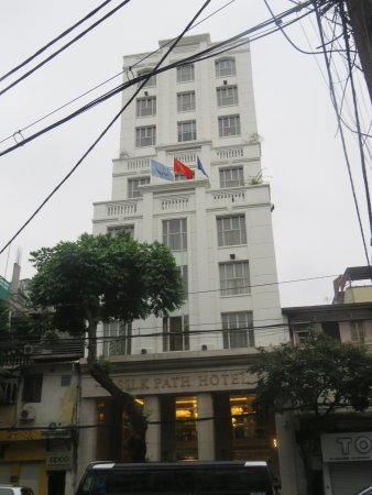 Silk Path Hotel: View from across the street