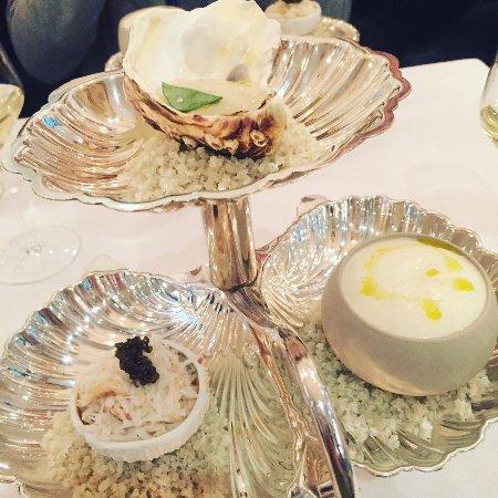 Pollen Street Social: oyster ice cream