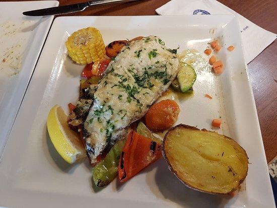 Restaurant Korona: Trout fillet with parmesan.