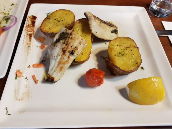 Restaurant Korona: Trout fillet with Provencal herbs.