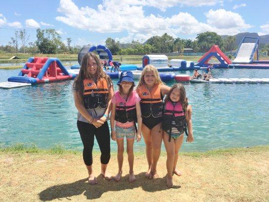 Four cousins enjoying a day out at Townsville Barra Fun Park