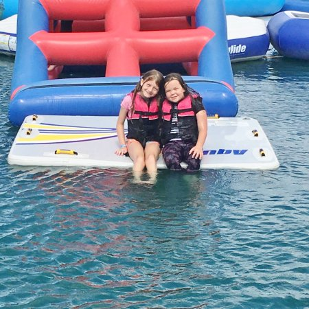 Townsville Barra Fun Park: Loving the inflatables!